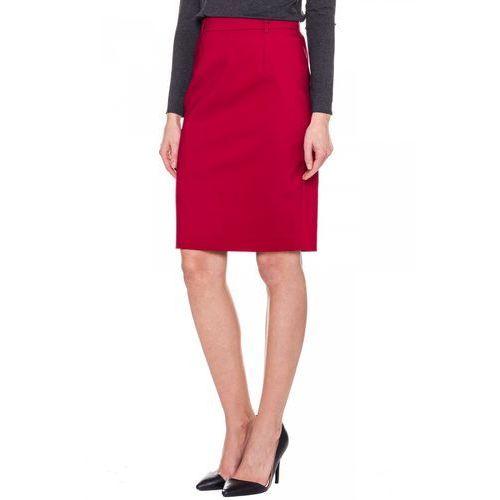 Czerwona, klasyczna spódnica - Bialcon, kolor czerwony