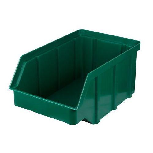 Plastikowy pojemnik warsztatowy - wym. 441 x 290 x 213 - kolor zielony