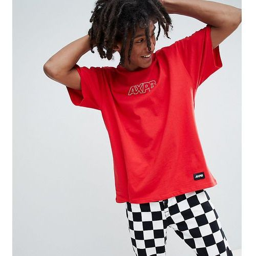 exclusive oversize t-shirt in red with logo - red marki Pull&bear