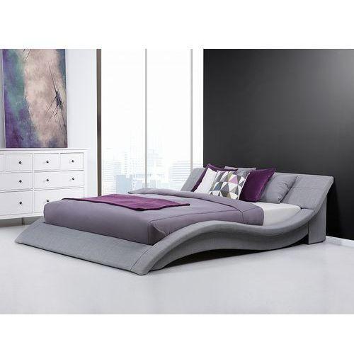 Łóżko tapicerowane 180x200 cm w kolorze szarym - ze stelażem - VICHY, kolor szary