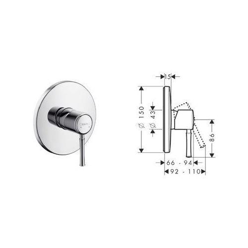 Hansgrohe TALIS CLASSIC 14165000 z kategorii [baterie prysznicowe]