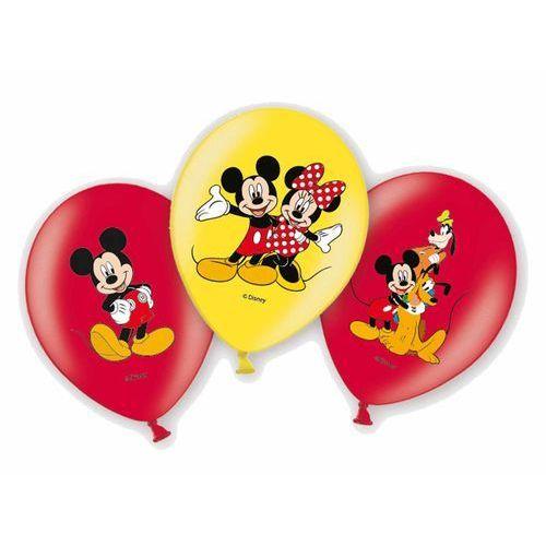Balony urodzinowe myszka mickey - 27 cm - 6 szt marki Amscan