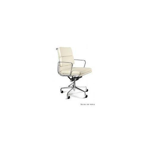 Krzesło biurowe wye low hl beżowe skóra naturalna marki Unique meble