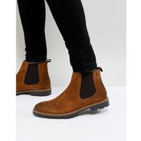 turret suede chelsea boots in tan - tan, Base london