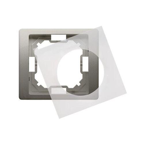 SIMON BASIC NEOS Ramka 1-krotna do wersji bryzgoszczelnej IP44 z uszczelką; satynowy BMRC1B/29 WMYZ-04121N-H013 (5902787840044)