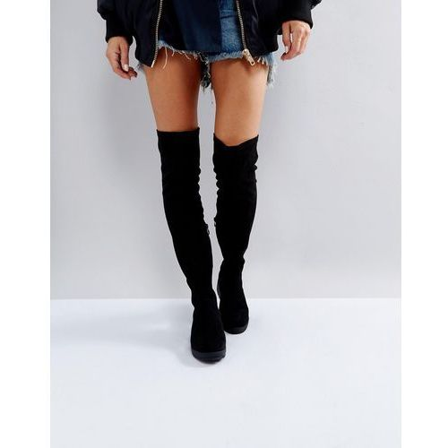 stretch over knee boots - black marki Truffle collection