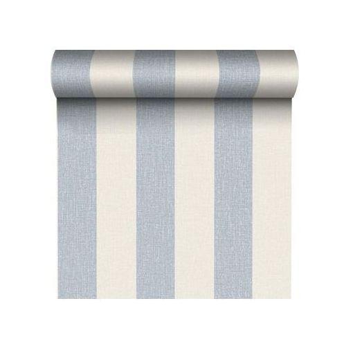Tapeta w pasy RINNIA biało-niebieska GRANDECO