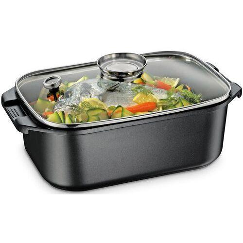 Küchenprofi Brytfanna aluminiowa z rusztem do pieczenia i gotowania na parze 7 litrów (ku-2385503034) (4007371066389)