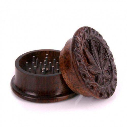 Mr bróg Młynek do tytoniu rozdrabniacz drewniany zioła grinder crusher