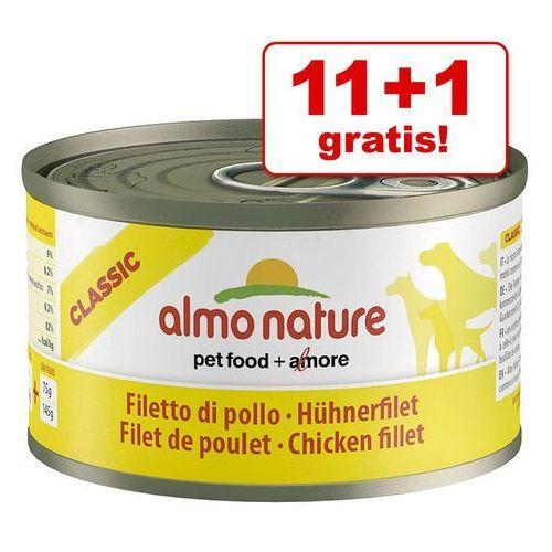 ALMO NATURE Classic Dog Beef and ham (wołowina i szynka) - puszka 24x95g (8001154124255)