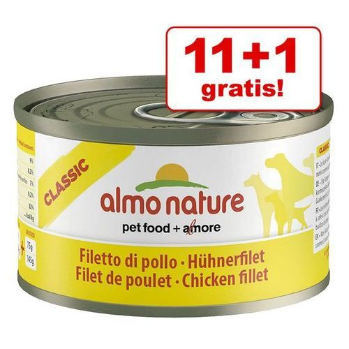 classic dog veal and ham (cielęcina z szynką) - puszka 95g marki Almo nature