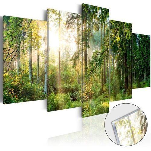 Artgeist Obraz na szkle akrylowym - zielony azyl [glass]