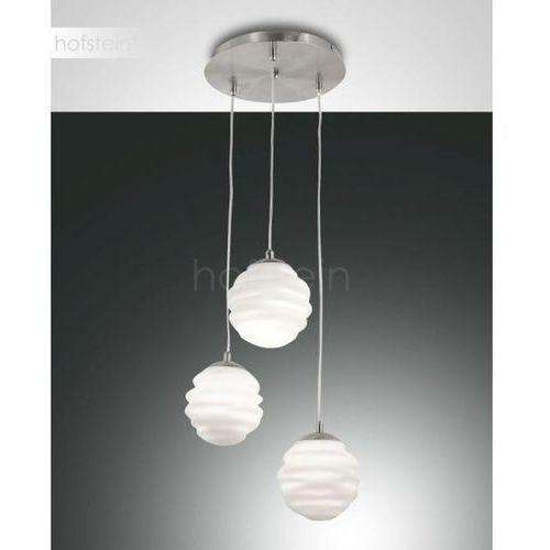 Fabas luce Ava – okrągła lampa wisząca, trzy szklane klosze