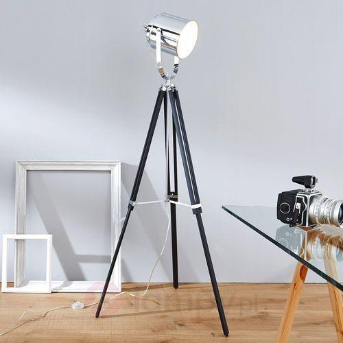 mettle lampa stojąca chrom, czarny, 1-punktowy marki Brilliant