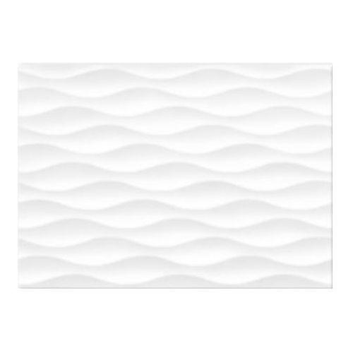 Glazura Tania Cersanit 25 x 35 cm white stripes błyszcząca 1,4 m2