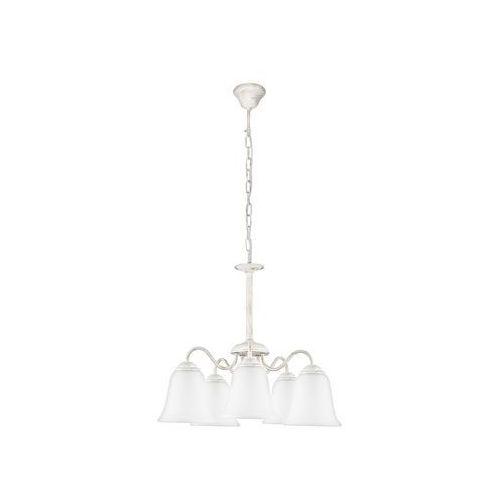 Lampa wisząca fabiola 7261 5x40w e27 biała marki Rabalux