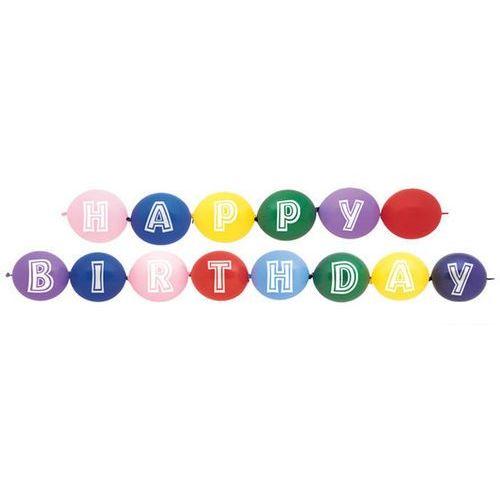 Unique Girlanda balonowa happy birthday - 1 kpl (0011179539505)