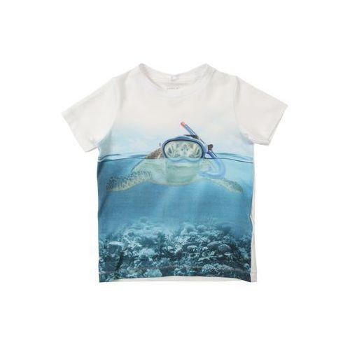 koszulka niebieski / szary / miętowy / biały marki Name it