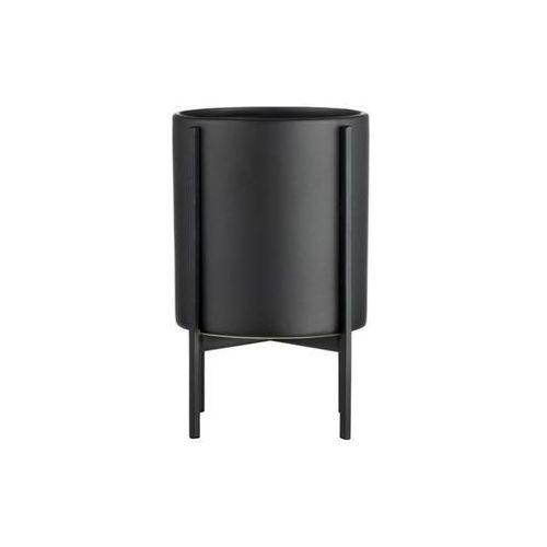 Doniczka Belena czarna na nóżkach Ø13 x 21.5 cm