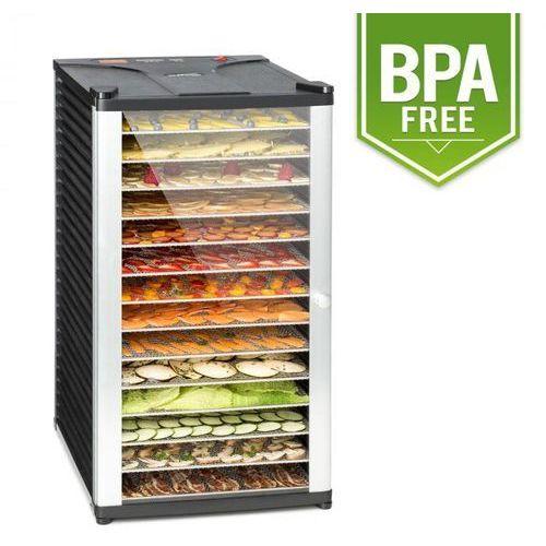 Klarstein fruit jerky 14 automat do suszenia 1000w 14 segmentów ze stali czarny
