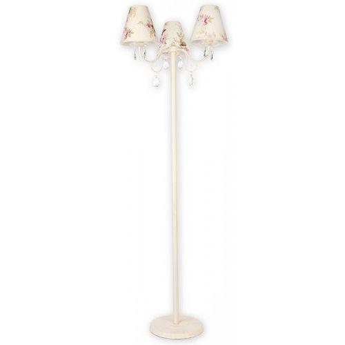 Velio Abażur lampa podłogowa 3 pł. / kwiaty + antyczna biel, Dodaj produkt do koszyka i uzyskaj rabat -10% taniej! (5902082861676)
