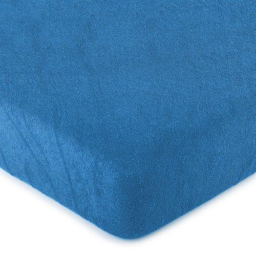 4home prześcieradło frotte ciemnoniebieskie, 90 x 200 cm, 90 x 200 cm