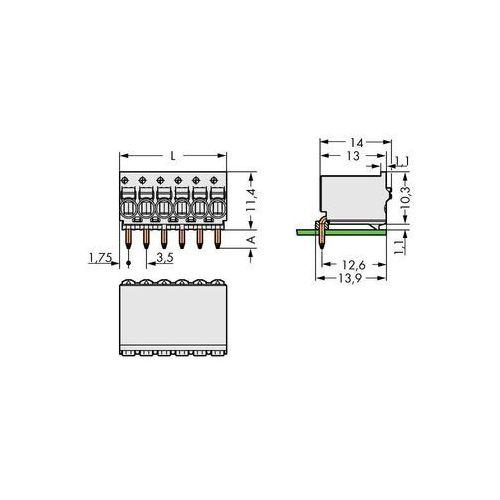 Obudowa męska na pcb  2091-1362, ilośc pinów 12, raster: 3.50 mm, 50 szt. marki Wago