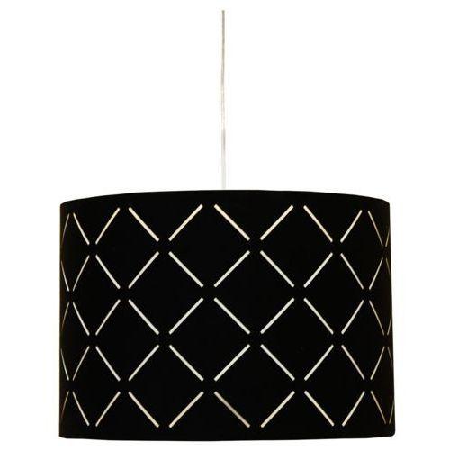Candellux Abażurowa lampa wisząca ralf 31-03201 zwis oprawa z wzorkami czarna