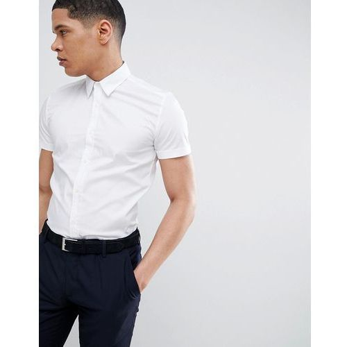 Antony Morato Stretch Short Sleeve Shirt In White - White, w 4 rozmiarach
