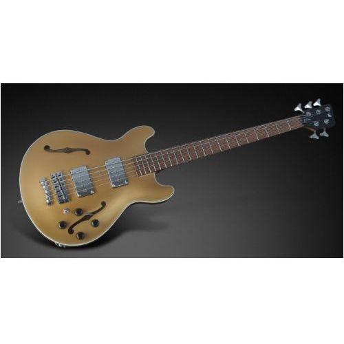 RockBass Star Bass 5-str. Solid Gold Metalic High Polish, Fretted - Long Scale gitara basowa
