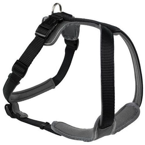 Hunter nylonowe szelki dla psa z neoprenową podszewką, czarno-szare - Rozm. XL