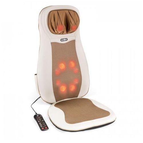 Niuwe mata nakładka do masażu shiatsu 3 strefy masażu beżowa