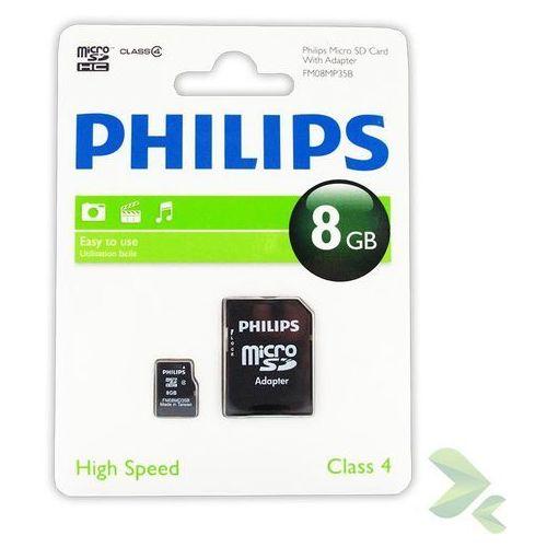 Philips  karta pamięci micro sdhc 8gb class 4 + adapter