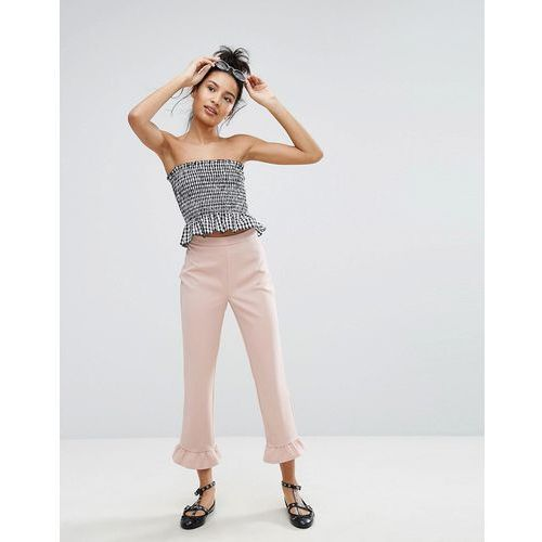 pephem crop trouser - pink marki New look