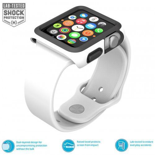 Speck  candyshell fit - bumper do apple watch 42mm (white/black)