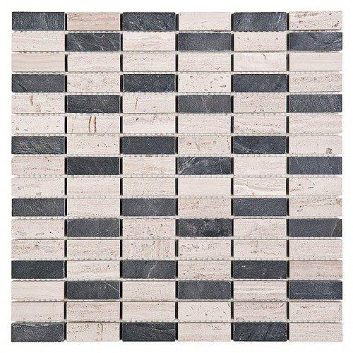 woodstone mozaika kamienna woodstone grey block mix 48 marki Dunin