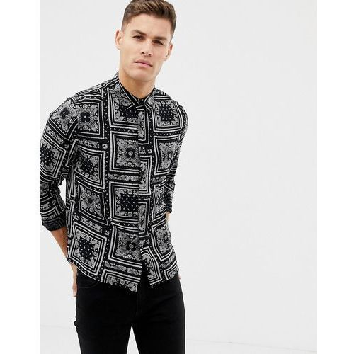 New Look regular fit shirt with paisley print in black - Black, w 6 rozmiarach