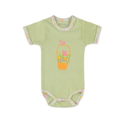 girls body dziecięce kolor zielony marki Pink or blue