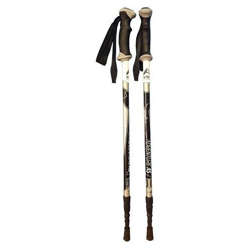 ERBO ADVENTURE AS BLACK - kije trekkingowe R. 105-135 cm