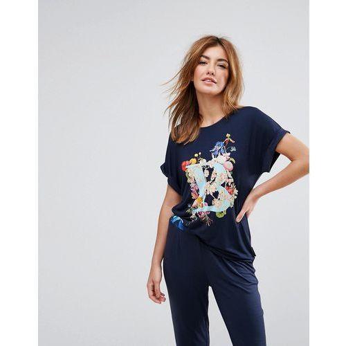 B by  alphabet jersey short sleeve pyjama top - multi marki Ted baker