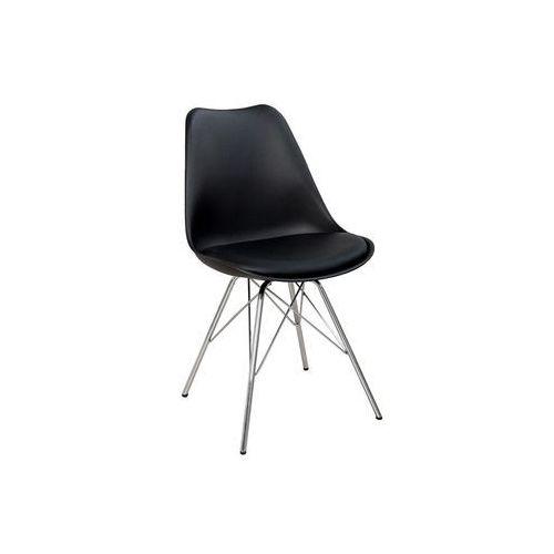 Krzesło astoria new retro czarne (nowa wersja) - srebrny marki Interior