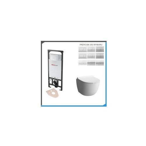 Kompletny zestaw podtynkowy do wc z misą vera rimless slim marki Zestawy
