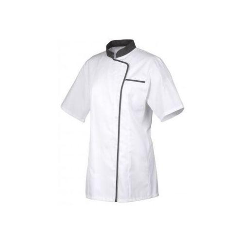 Bluza kucharska Vintage biało-czerwona długi rękaw XL