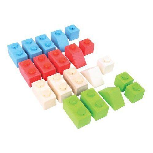 Bigjigs toys Klocki click podstawowe kolory pakiet startowy (0691621534007)