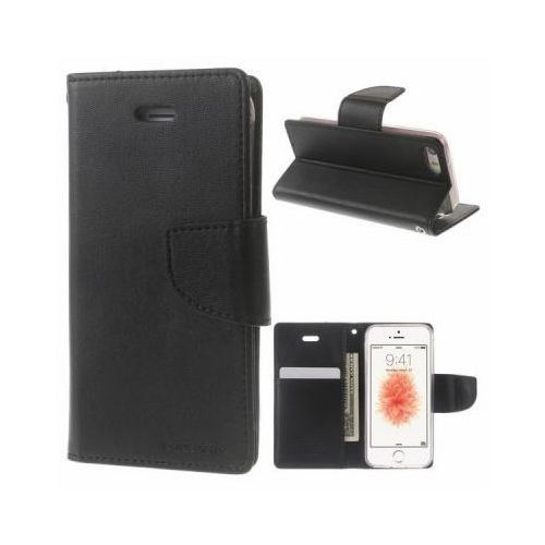 Mercury Bravo Diary - Etui Huawei P9 Lite z kieszeniami na karty + stand up (czarny), 3190