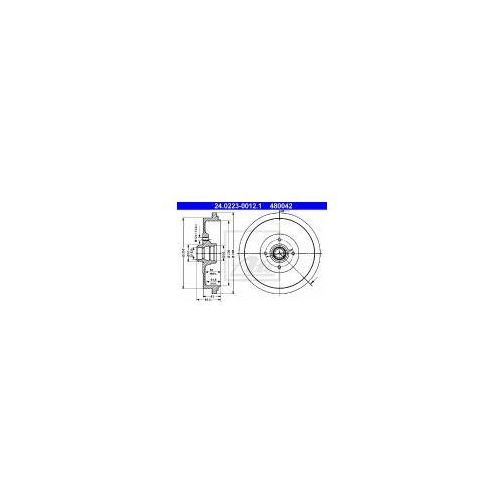 ATE Bęben hamulcowy - 24.0223-0012 z kategorii bębny hamulcowe