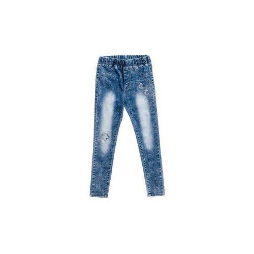 Happy house Spodnie jeansowe dziewczęce niebieskie denley pps068
