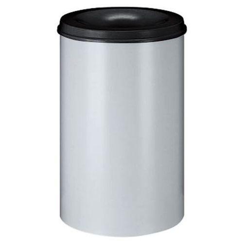 Vepa bins Bezpieczny kosz na papier, poj. 110 l, wys. 710 mm, biało-szary. korpus z blachy