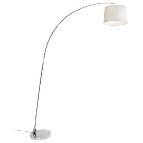 Arc - lampa podłogowa łuk chrom/biały marki Aluminor