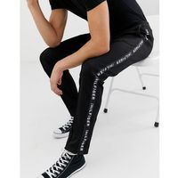 sports tricot tech tape logo joggers zip hem in black - black, Tommy hilfiger, S-L